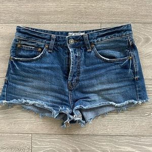 Free People Denim Cut-Off Shorts 100% Cotton Sz 26